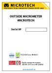 OUTSIDE MICROMETER MANUAL