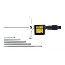 Computerized sub-micron depth micrometer
